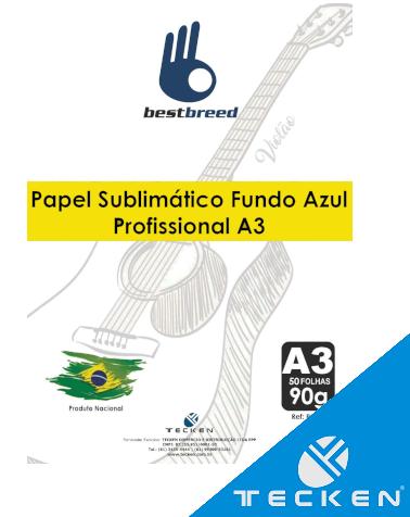045966efa Papel Para Sublimação A3 Bestbreed Fundo Azul - 50 folhas - Tecken